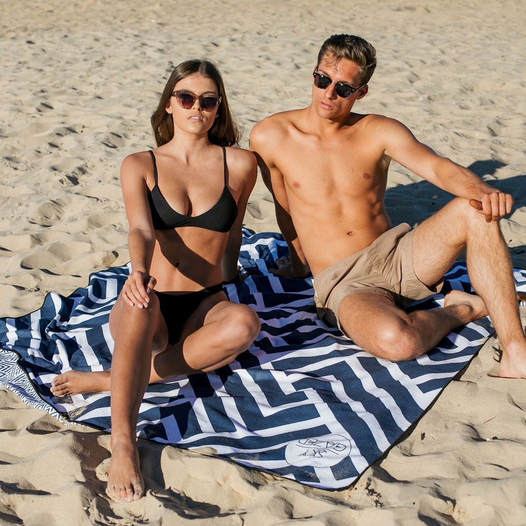 The Surfers (Navy)  Double Towel - Families & Couples