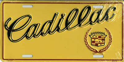 Cadillac American Sized Number Plate