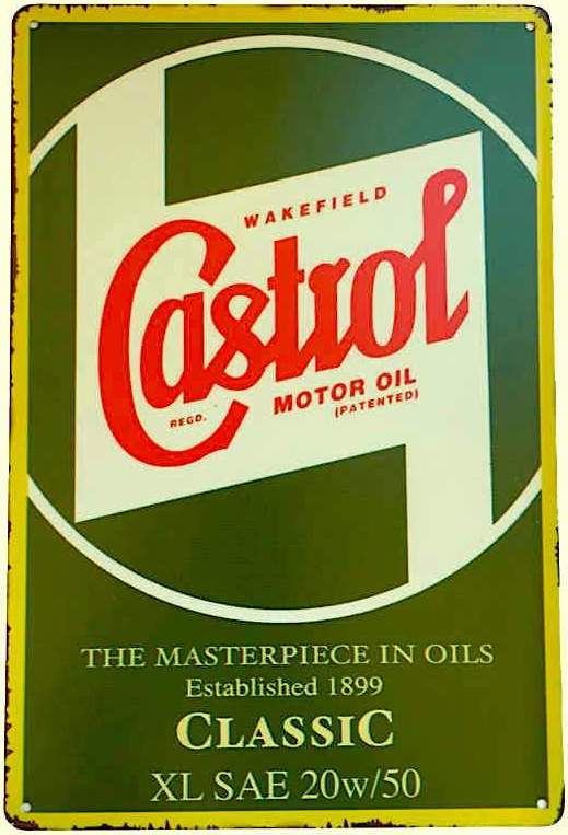 Castrol Wakefield Motor Oil Tin Sign