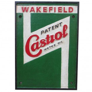 Castrol Wakefield Cast Iron Sign