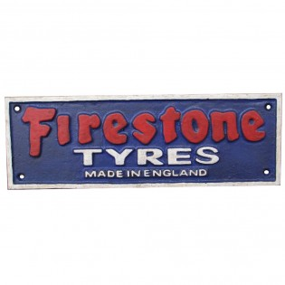 Firestone Cast Iron Sign