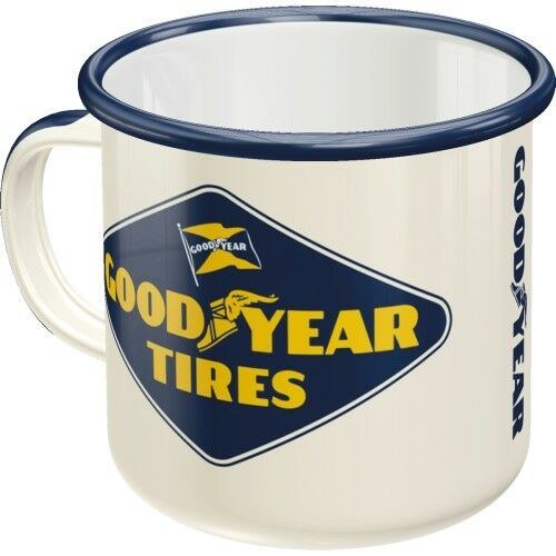 Goodyear Tires Enamel Boxed Mug