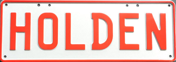 HOLDEN Number Plate