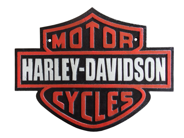 Harley Davidson Cast Iron Sign