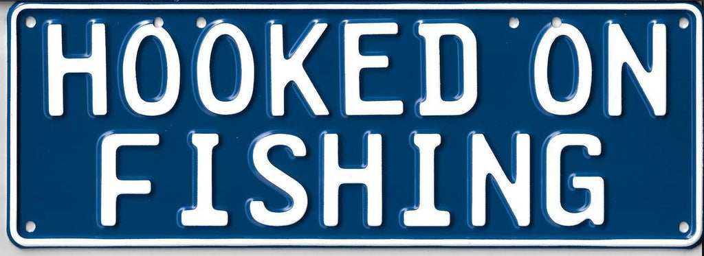 Hooked On Fishing Novelty Number Plate