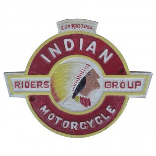 Indian Motorcycle Cast Iron Sign