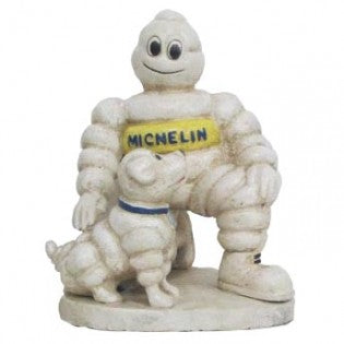 Michelin Man With Dog Cast Iron Statue