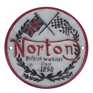 Norton Motorcycle Cast Iron Sign