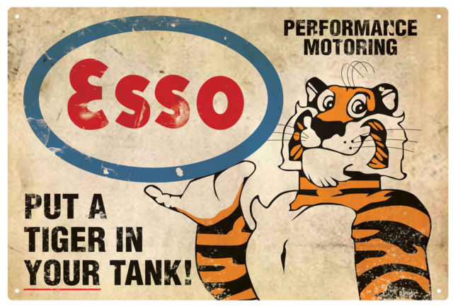 Tiger in the Tank Tin Sign 35 x 26cm