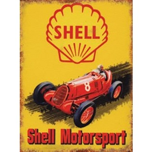 Shell Motorsport Tin Collectors Sign