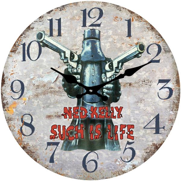 Such is Life Ned Kelly Wall Clock 30cm