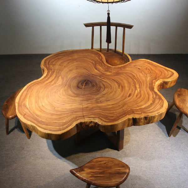African Zingana Slab Dining Table 2