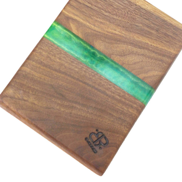 Cutting Board Of Wood And Green resin