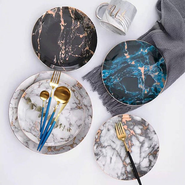 Marbleized Dishes - Set Of Two