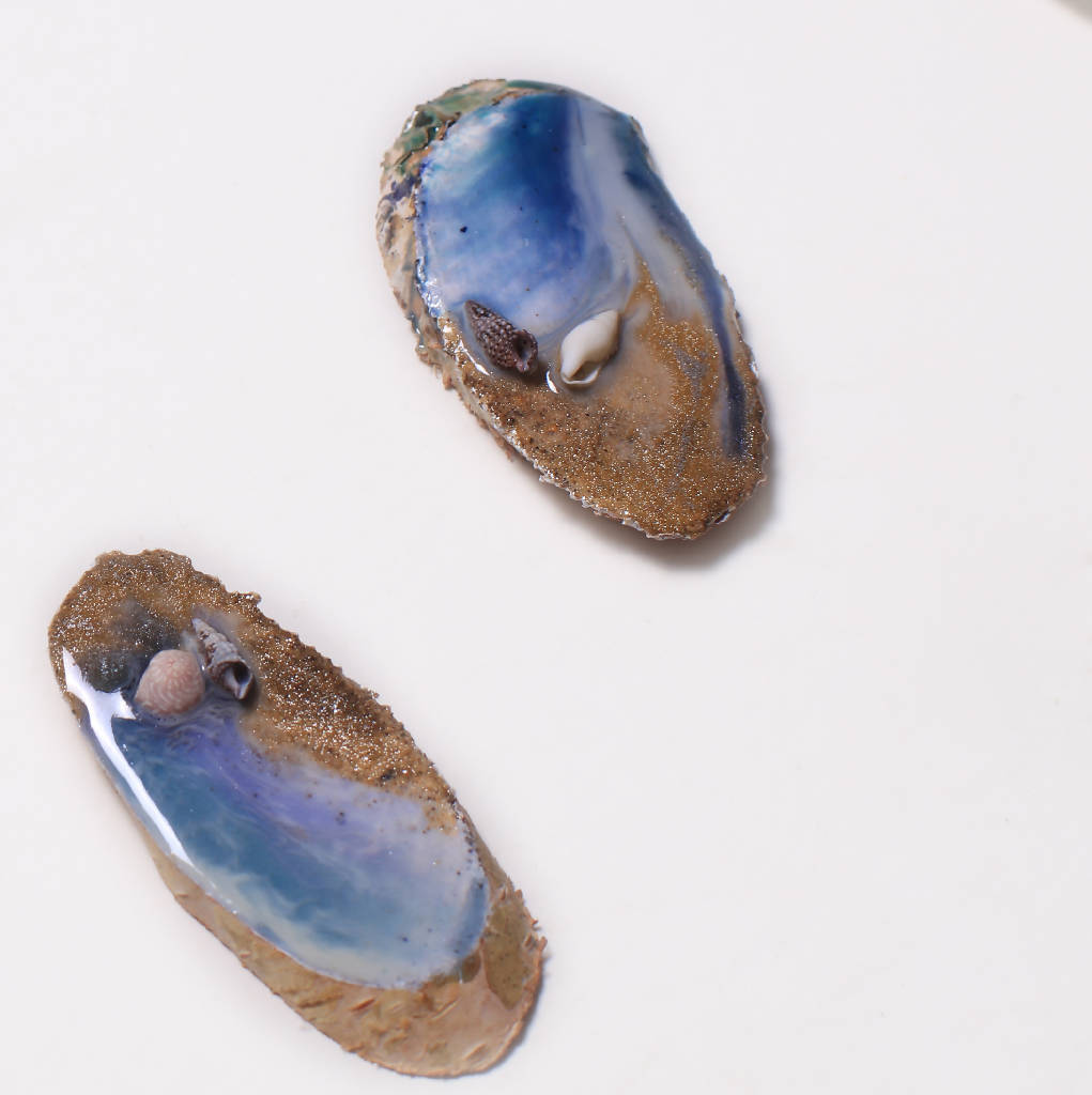 Oval Wooden Pieces with resin ( 2 Sizes)
