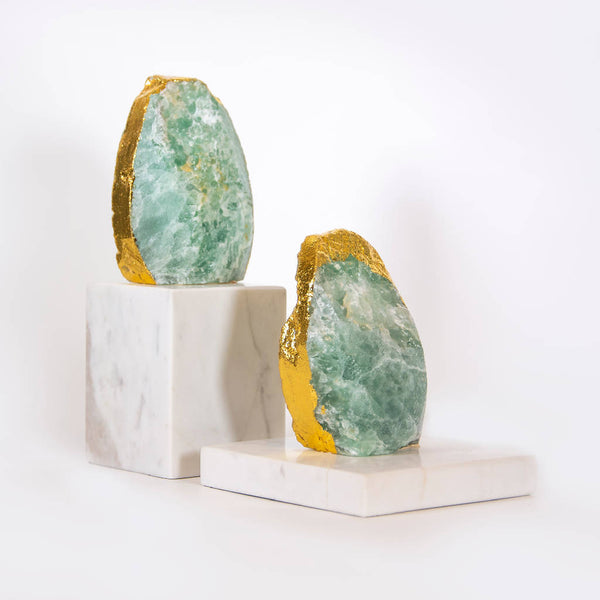 Marble Accessories with Golden Edges (2 pcs.)