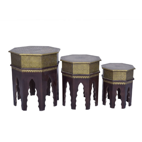 Hexagonal Nesting tables (Set of 3)
