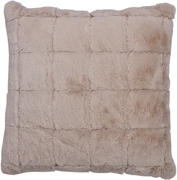 Ningbo Cushion with Cover - Rabbit Skin Taupe