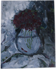 Purple Flowers in a vase - painting
