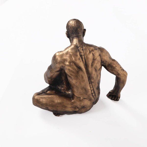 Statue of two men sitting - (2 Pieces)