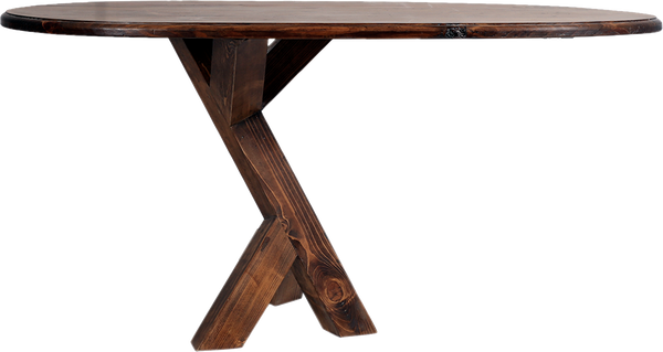 Wooden Entrance Console With One Leg
