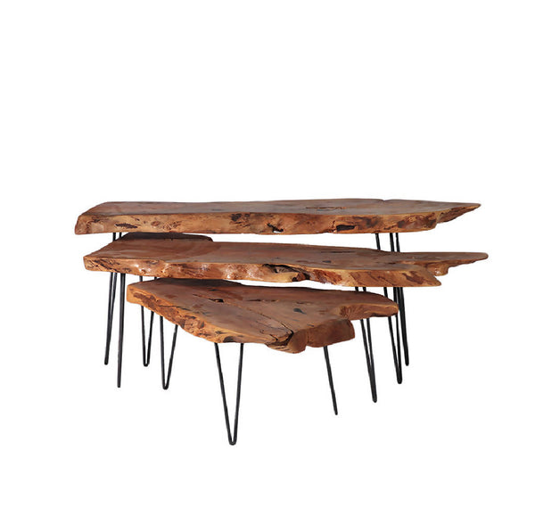 Sidr wood tables (set of 3)