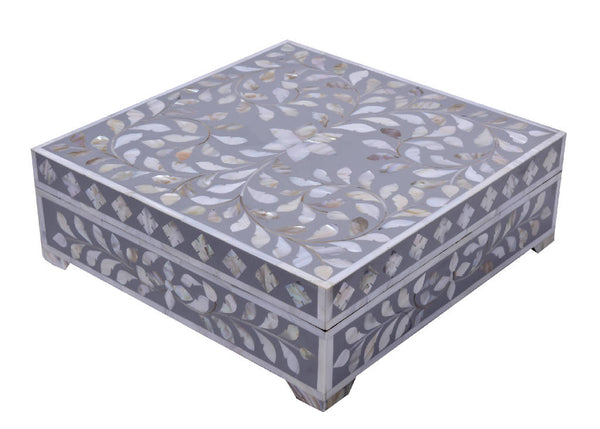 Mother Of Pearl Box - Gray