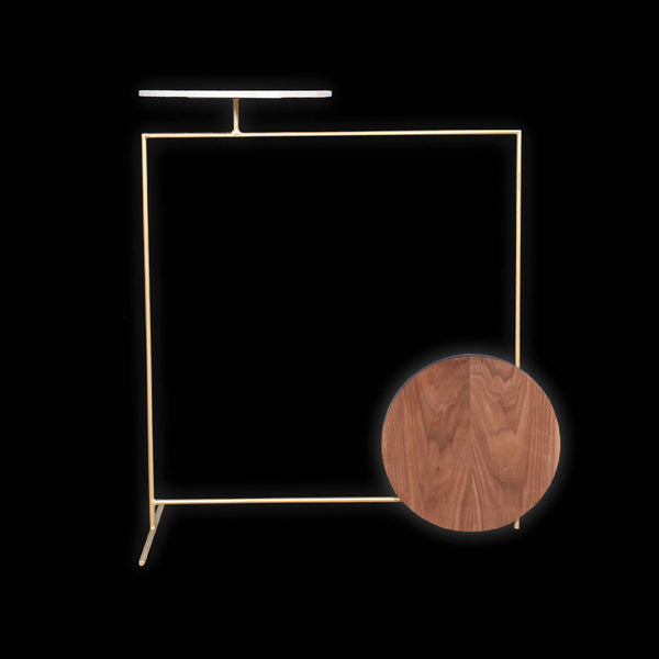 Geometric Side Table - Gold