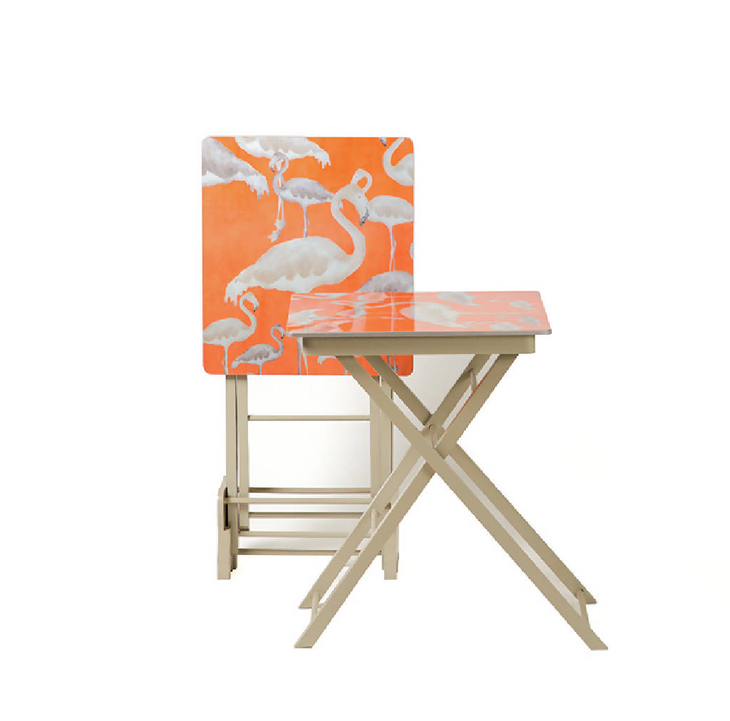 Folding Tables with Stand - Flamingo ( 3 pieces)