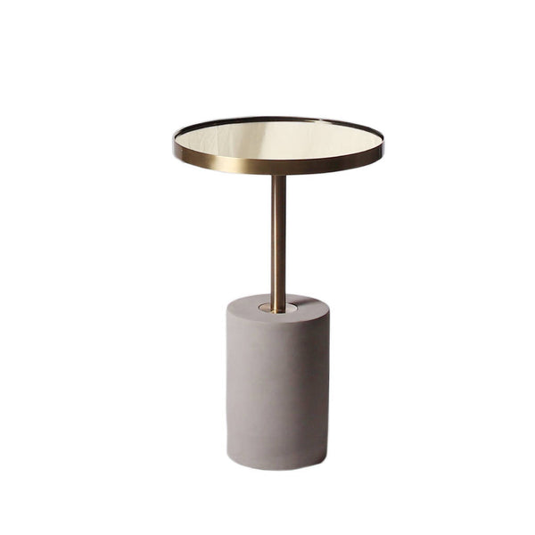 Round Brushed Gold Table - Tall