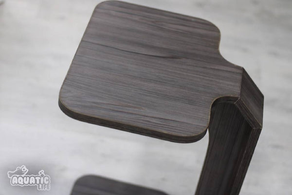 Sofa slide table - wooden grey