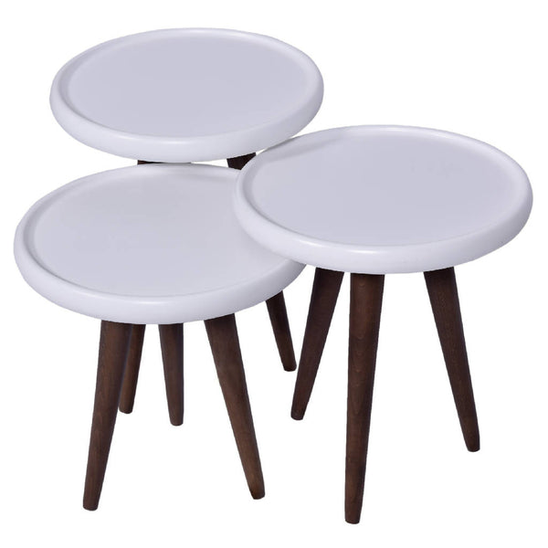 White Nesting Tables (Set of 3)