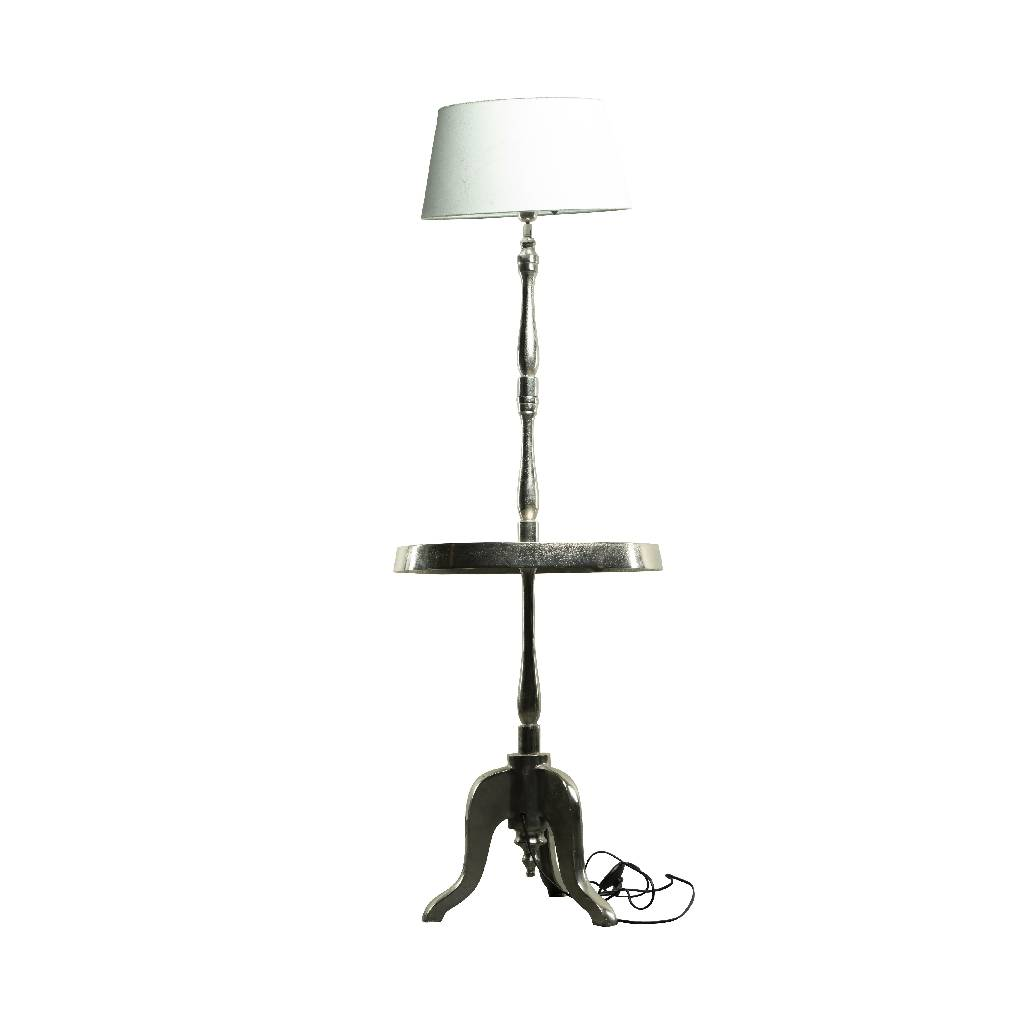 Tall lamp with table