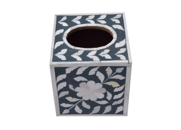 Tissue Square Box - Bone Inlay (3 Colors)