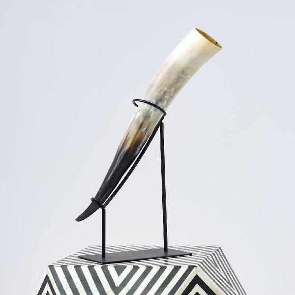 Artificial ivory horn