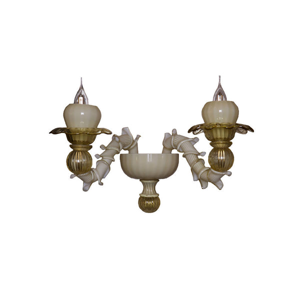 Classic Murano Wall Light (Ivory/Honey)