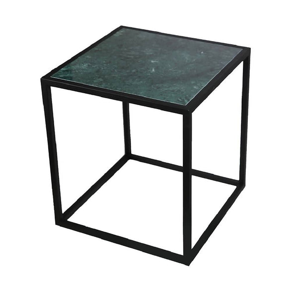 Side Table with Green Marble