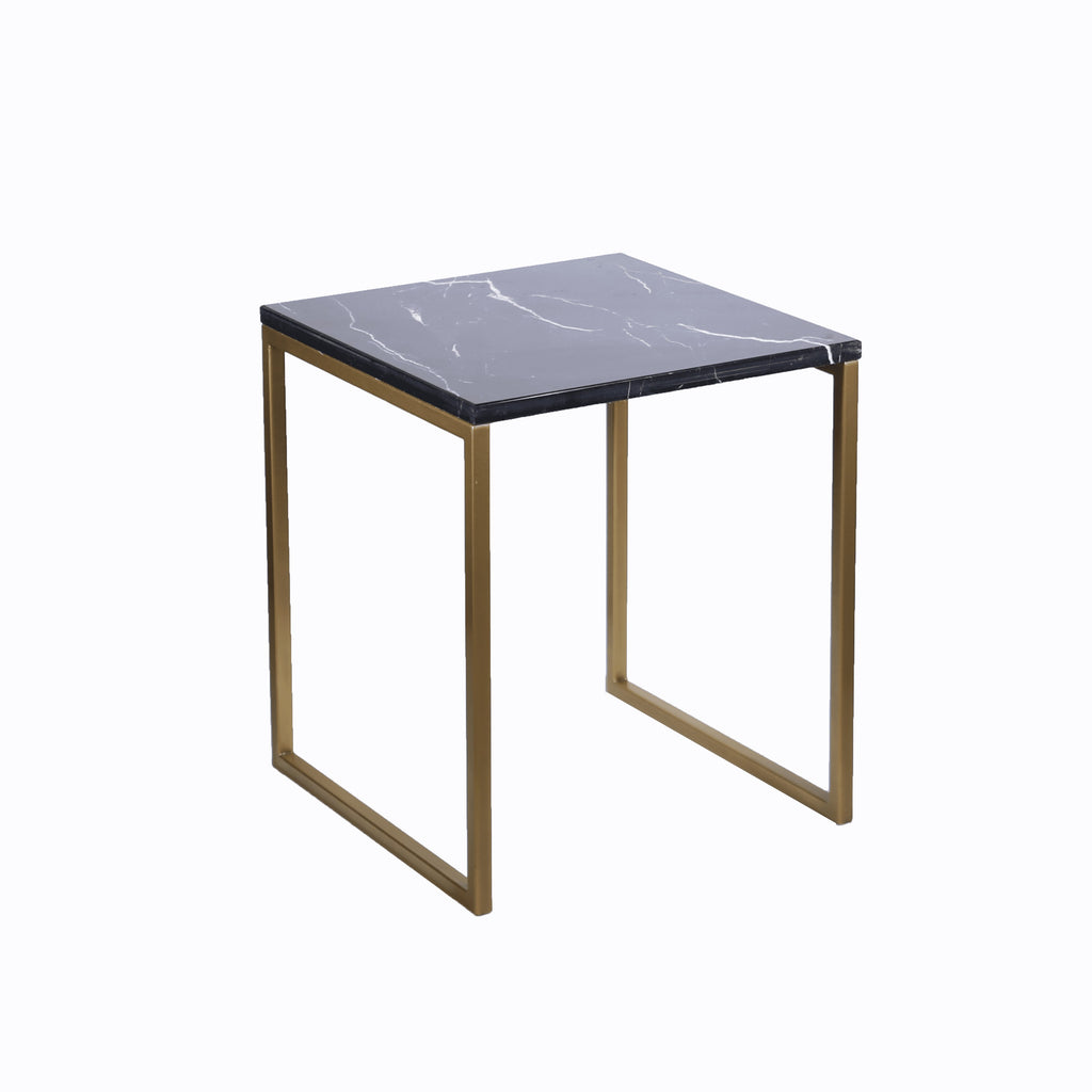Side Table with Black Marble