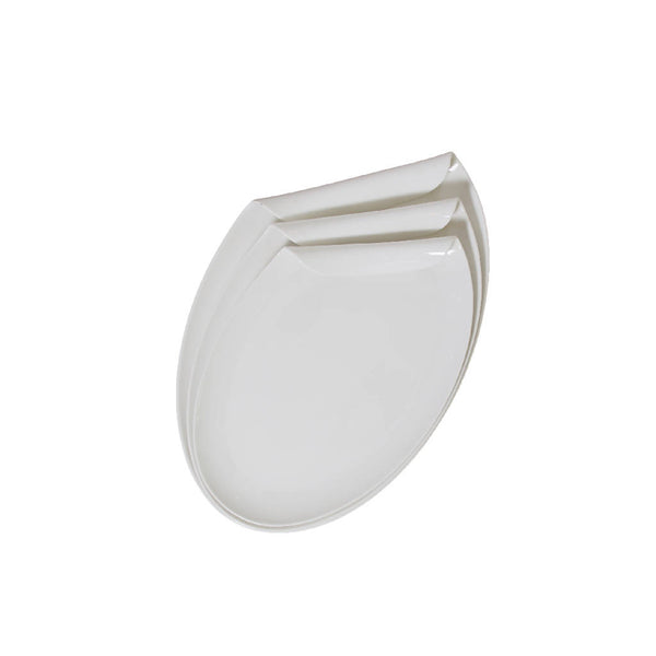 Elliptical Serving Trays with Curved Edge (3 pcs.)