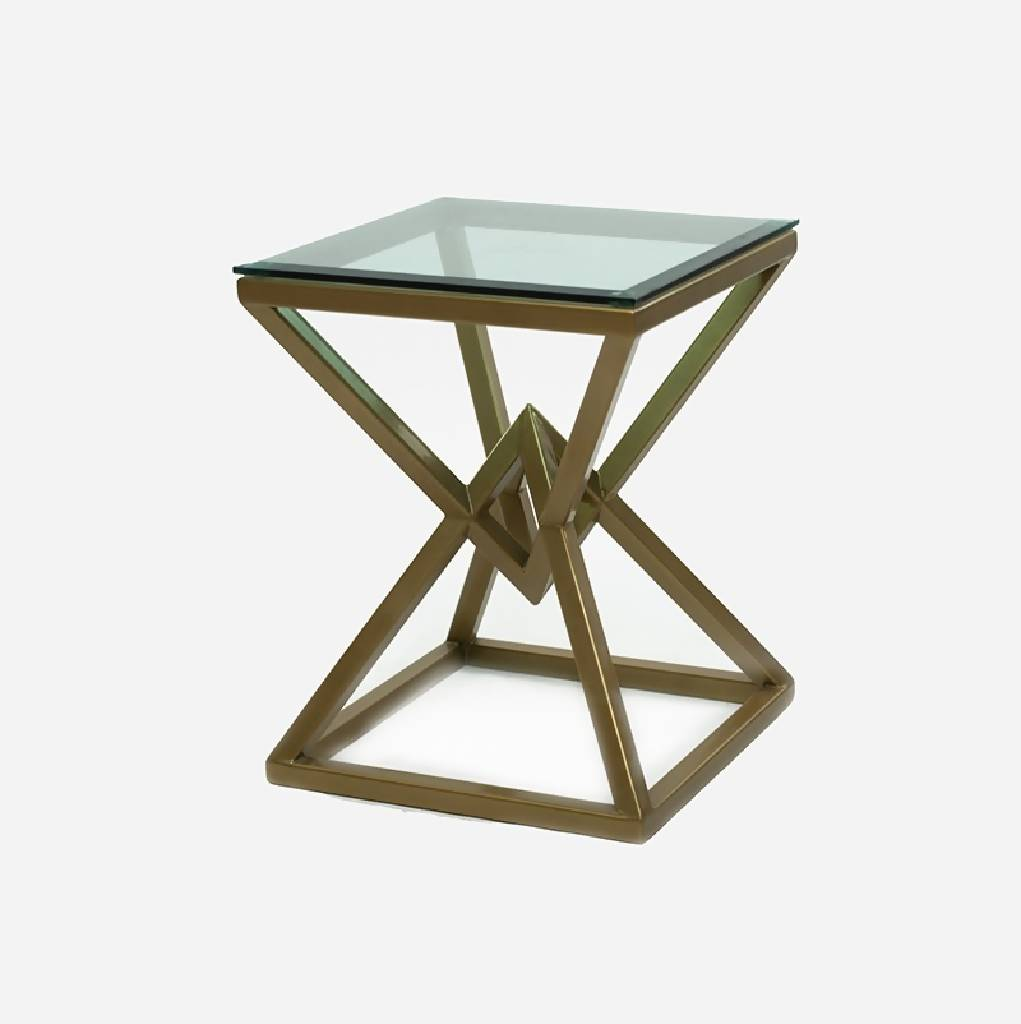 Diamond Shaped Table - Golden color