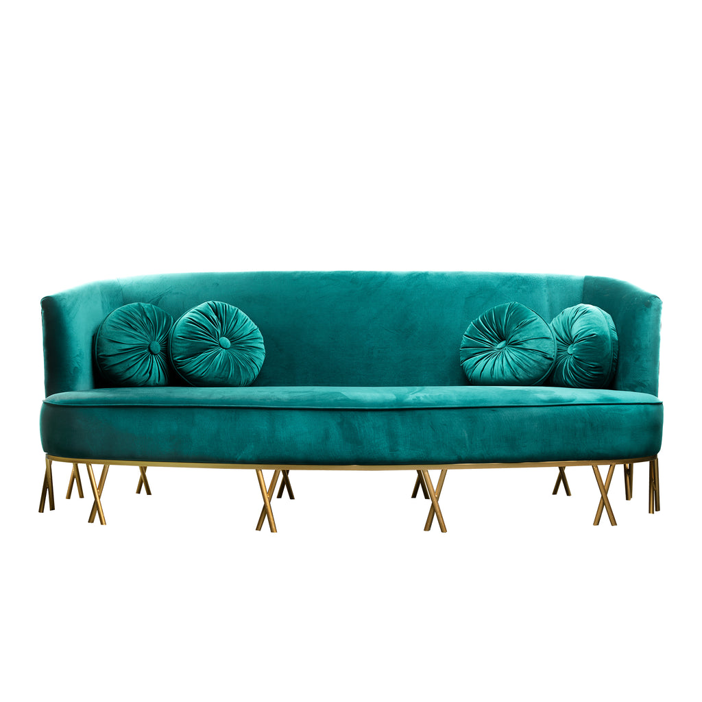 Green sofa - 3 seater