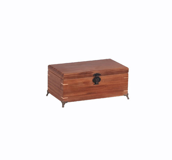 Wooden box - plain with metal legs