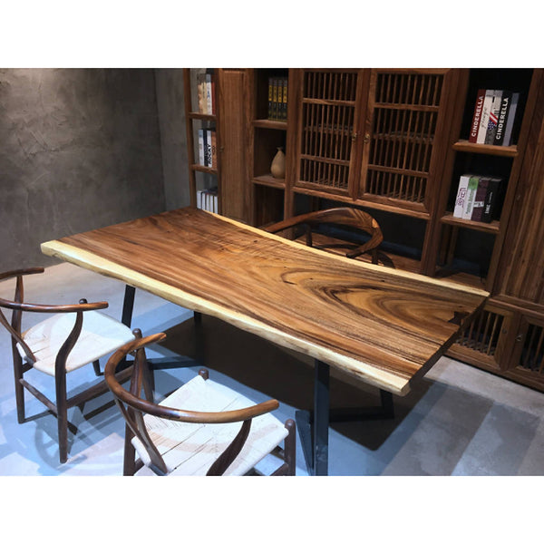 Walnut Slab Dining Table 15