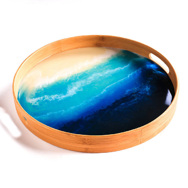 Round Tray - Ocean (Two Sizes)