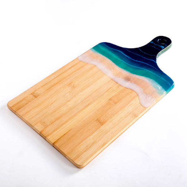 Rectangle Platter with Handle - Ocean Blue (Large)