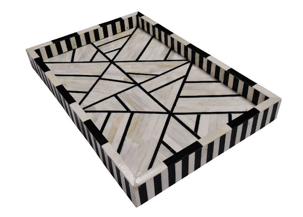 Mother of Pearl Tray - Black And White