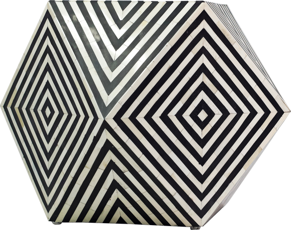 Octahedron black and white table