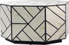 Octagonal shaped table - white and black
