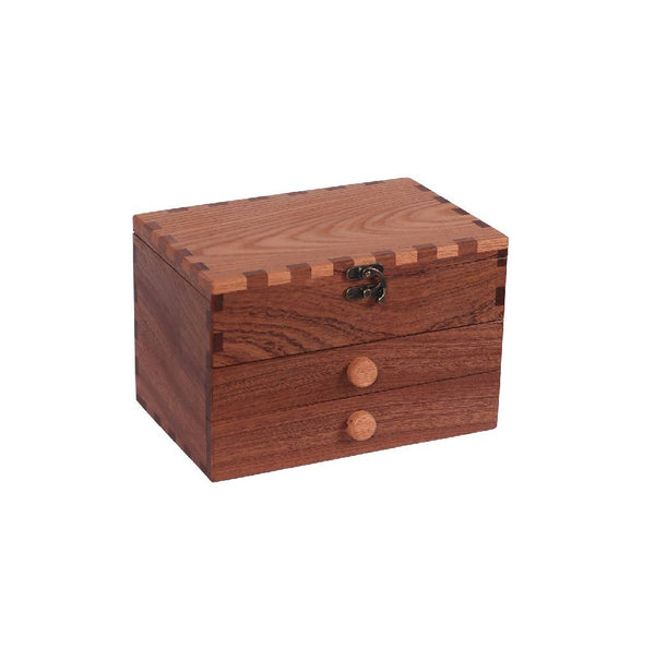 Wooden Box - Two Tone and Two Drawers