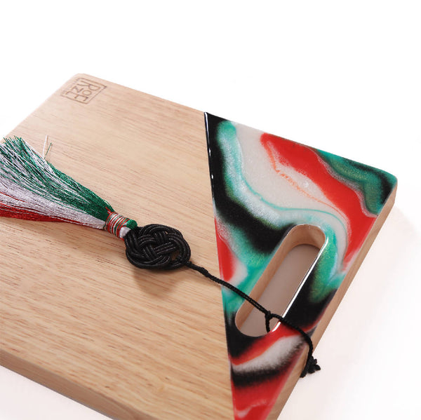Square Platter - Rainbow Marble 2
